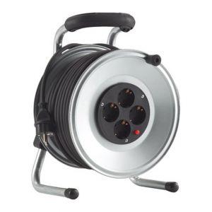 Forum Enrouleur de câble, tôle d'acier, IP 20, qualité de câble caoutchouc, Type de câble : H05 RR-F 3G1,5, Long. de câble 25 m