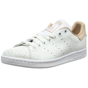 Adidas Stan Smith, Baskets Femme, Blanc (Footwear White/Footwear White/Ash Pearl 0), 37 1/3 EU