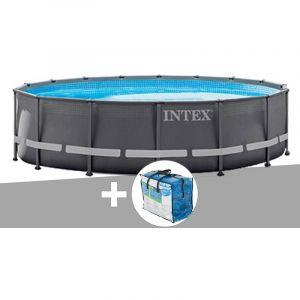 Intex Kit piscine tubulaire Ultra Frame ronde 4,88 x 1,22 m + bâche à bulles OFFERTE