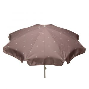 Jardin prive Parasol rond SOLEA Grège