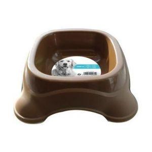 M pets Gamelle en plastique simple PLASTIC BOWL - Pour chien - 2300ml - Coloris divers - Moelleux - Ultra confortable - Douillet - Tissu doux - Lavable à la machine à 30°C