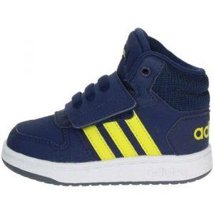 Adidas Hoops Mid 2.0 I, Sneakers Basses bébé garçon, Multicolore (Darkblue/Shoyel/Ftwwht B75947), 22 EU
