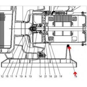 Procopi 593013 - Amortisseur de pied de pompe Tifon 1 75 à 300