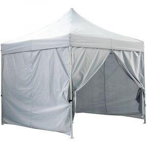 Greaden Tente pliante 4 murs amovibles 3x3m Premium Light - Tube 32mm en acier - Bâche 420D