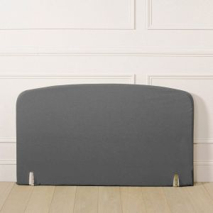 Housse pour tête de lit polycoton, forme galbée Gris Taille 160x85 cm;90x85 cm;140x85 cm