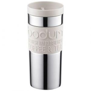 Bodum Travel mug en inox avec bouchon à vis 0,35 L Blanc crème