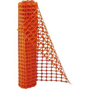 Novap Grillage de délimitation de chantier orange 1 x 50 mètres