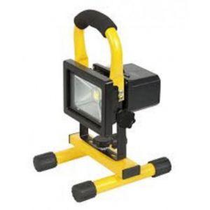 Ribimex PRSPOT10PBAT - Projecteur portable à Led 10 W sur batterie