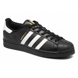 Adidas Superstar, Baskets Basses Homme, Noir (Core Black/FTWR White/Core Black), 42 EU