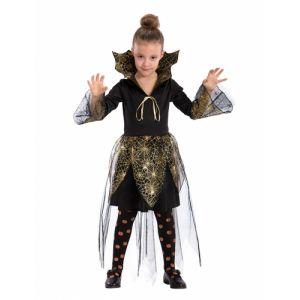 Déguisement vampire toile d'araignée dorée fille Halloween 4 à 5 ans