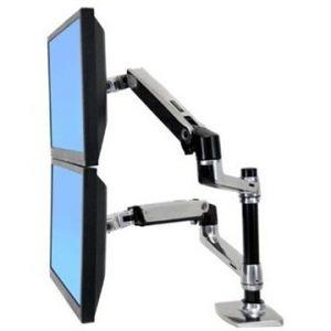 Ergotron 45-248-026 - Bras bi-écrans superposés LX Dual
