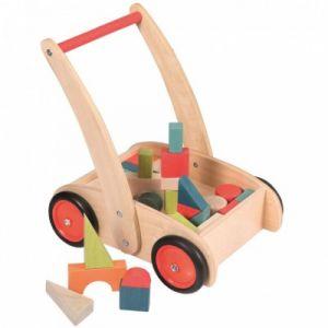 Egmont Toys Chariot de marche avec blocs en bois