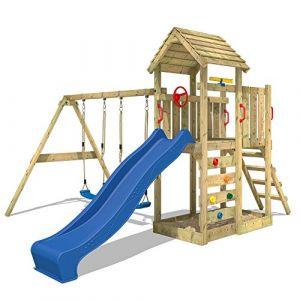 Wickey MultiFlyer - Aire de jeux avec toit en bois