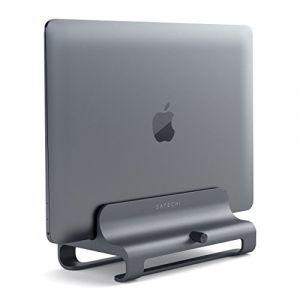 Support Universel Vertical en Al ini pour Ordinateur Portable Compatible avec MacBook, MacBook Pro, Dell XPS, Lenovo Yoga, ASUS Zenbook, Samsung Notebook et Plus Encore