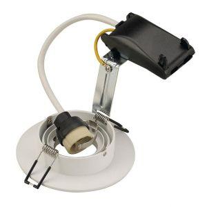 SLV Spot encastrable Ampoule halogène, LED GU10 113441 50 W blanc (mat)