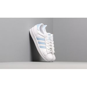 Adidas Superstar W, Chaussures de Gymnastique Femme, Blanc FTWR White/Glow Blue/Core Black, 36 EU
