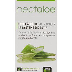 Sante verte Nectaloe - 20 sticks à boire pour apaiser le système digestif