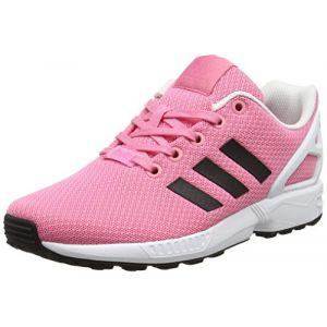 Adidas ZX Flux J, Sneakers Basses Mixte Enfant, Rose (Easy Pink/Core Black/FTWR White), 40 EU