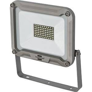 Brennenstuhl Projecteur LED JARO 50W (4770 lm, Utilisation en Interieur et en Extérieur, Etanche IP65, support orientable), Argent