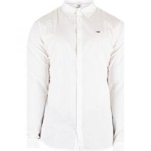 Tommy Jeans Chemise Homme Chemise Oxford Slim Stretch, Blanc blanc - Taille EU XXL,EU S,EU M,EU L,EU XL