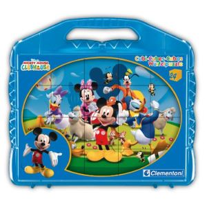 Clementoni Puzzle 24 cubes : Mickey Mouse Club House