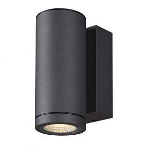SLV ENOLA, applique extérieure, rond, S, anthracite, LED, 6W, 3000K/4000K, IP65 - Lampes sur pied, murales et de plafond (extérieur)