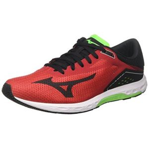 Mizuno Wave Sonic, Chaussures de Running Homme, Multicolore (Formulaone/Black/Greenslime 13), 43 EU