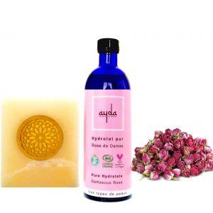 Ayda Hydrolat pur Rose de Damas pour tous types de peaux