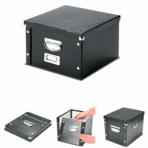 Leitz 6045-00-95 - Boîte de rangement Click & Store, format A3, en PP, coloris noir