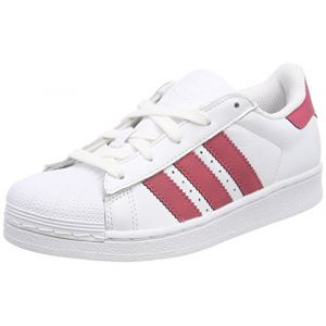 Adidas Superstar C, Chaussures de Fitness Mixte Enfant, Blanc (Ftwbla/Ftwbla / Negbás 000), 28 EU