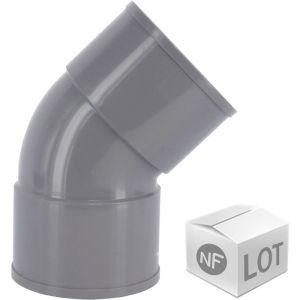 First Plast Lot de raccord PVC - 90 Coudes 45° FF Ã%u02DC50