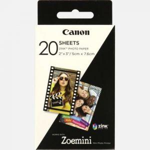 Canon Papier photo 20 feuilles ZINK pour Zoe Mini
