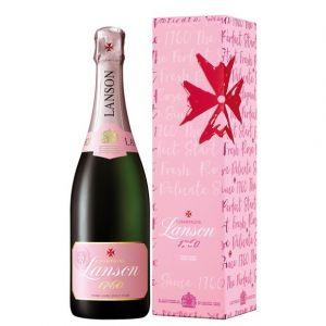 Lanson Champagne rosé label 75 cl sous étui perfect start