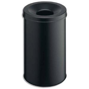 Smead Corbeille à papier en acier avec étouffoir 31 L