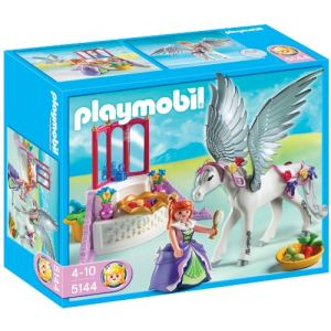 Image de Playmobil 5144 - Cheval ailé et coiffeuse de princesse