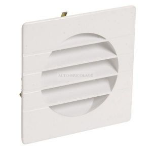 Nicoll Grille extérieure pour tube PVC Ø100 blanc moustiquaire GETM10B -