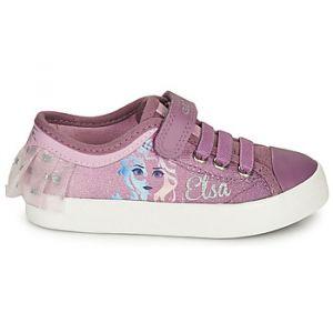 Geox Baskets basses enfant JR CIAK GIRL Violet - Taille 24,25