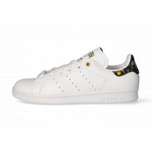 Adidas Stan Smith Fleurs Femme Blanche Et Noire 41 1/3 Tennis
