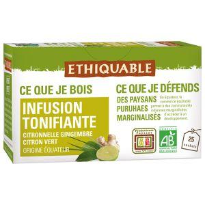 Ethiquable Infusion citronnelle gingembre citron vert BIO 37,5g
