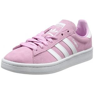 Adidas Campus, Baskets Basses Mixte Enfant, Rose (Frost Pink/Footwear White/Footwear White), 38 EU