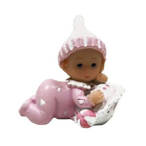 Figurine en résine bébé fille Baptême