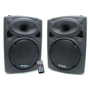 Ibiza Sound SLK-10A-BT + SLK-10 - Enceinte amplifiée 400W + enceinte passive 350W