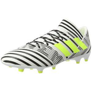 Adidas Nemeziz 17.3 FG, Chaussures de Football Homme, Blanc (Footwear White/Solar Yellow/Core Black), 44 2/3 EU