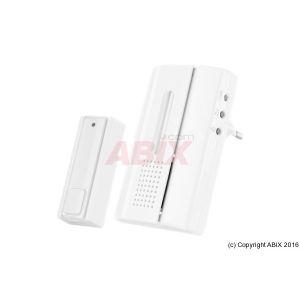 Trust Smart Home ACDB-7000AC Kit carillon alimentation murale et bouton-émetteur sans fil Home Blanc