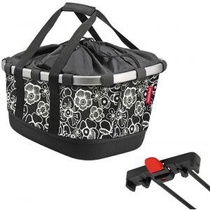 Klickfix Panier pour porte bagage racktime bikebasket gt fleurs noires