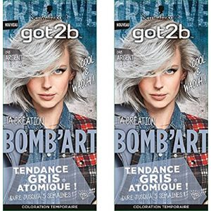 Schwarzkopf Got2b Bomb'Art 098 Argent l'explosive - Coloration temporaire