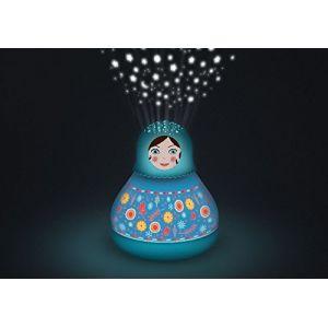 Trousselier Lanterne magique projecteur d'étoiles musical Matriochka 20 cm