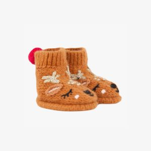 Catimini Chaussons tricot camel faon