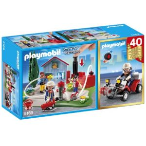 Playmobil 5169 City Action - Brigade de pompiers avec quad
