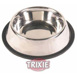 Trixie Écuelle en acier inox anti-dérapante lourde pour chiens 0,7 litre